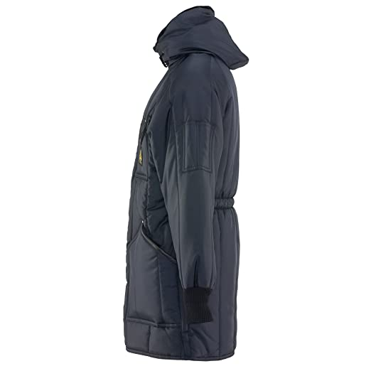 c275180f9e678 Amazon.com: RefrigiWear Men's Iron-Tuff Ice Parka Insulated Coat with Hood:  Clothing