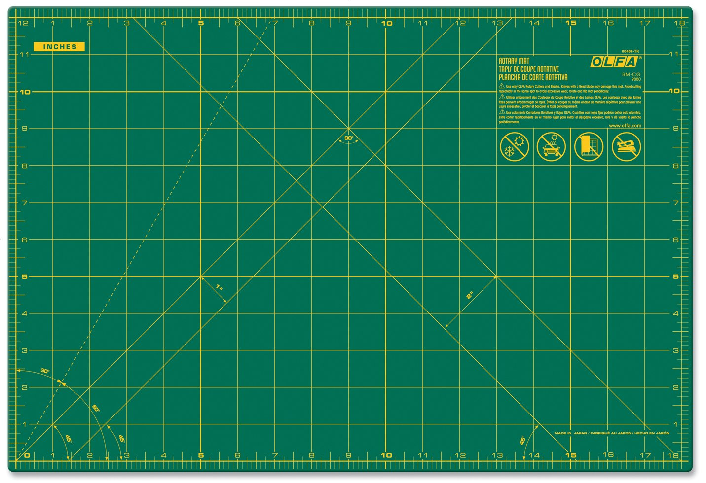 Galleon Olfa 24 Quot X 36 Quot Double Sided Self Healing Rotary Mat