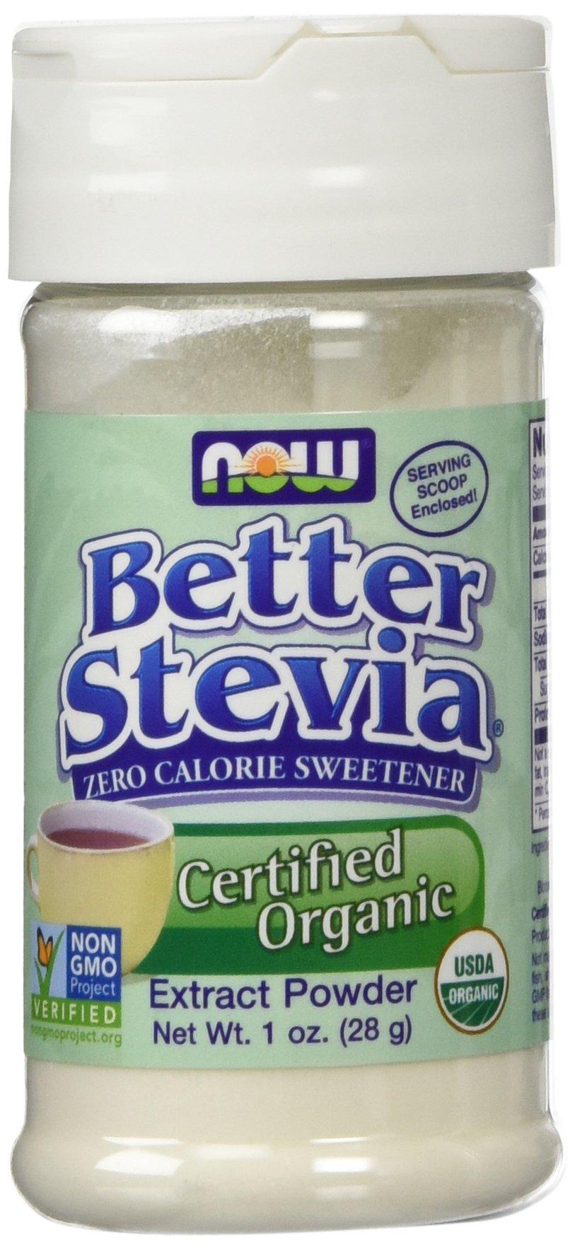 NOW Better Stevia Zero Calorie Sweetener Extract Powder, 1 Oz.