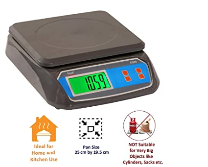 Equal Digital Weighing Scale For Kithcen , Home, And Courier Purpose ,  Capacity 30 Kg (Grey)
