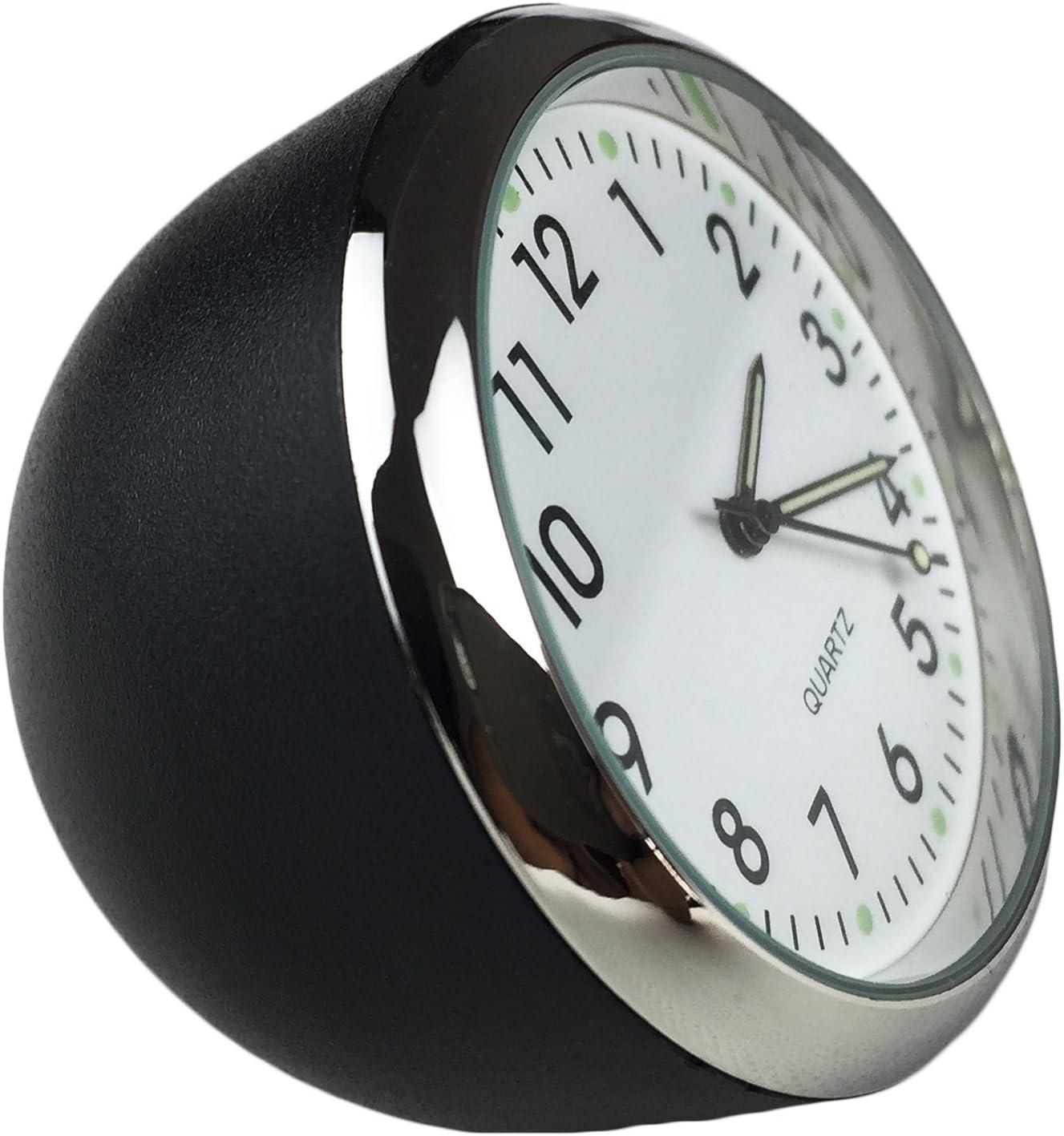 Dooppa - Reloj analógico pequeño para salpicadero de coche o mesa, cuarzo, estilo clásico (40 x 40 x 40 mm)