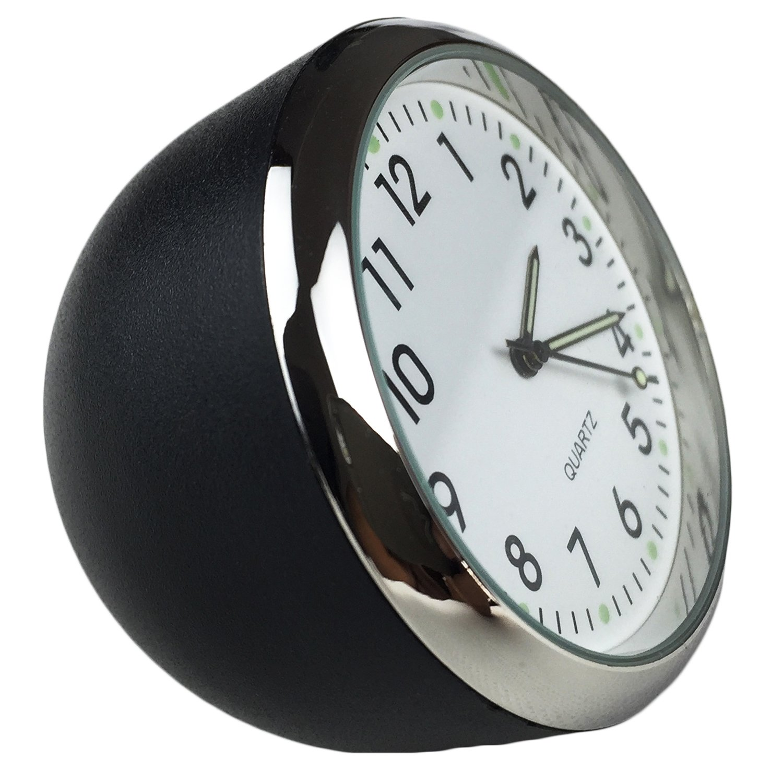 Dooppa Car Dashboard Analog Quartz Clock (40x40x40mm) (white dial white shell)