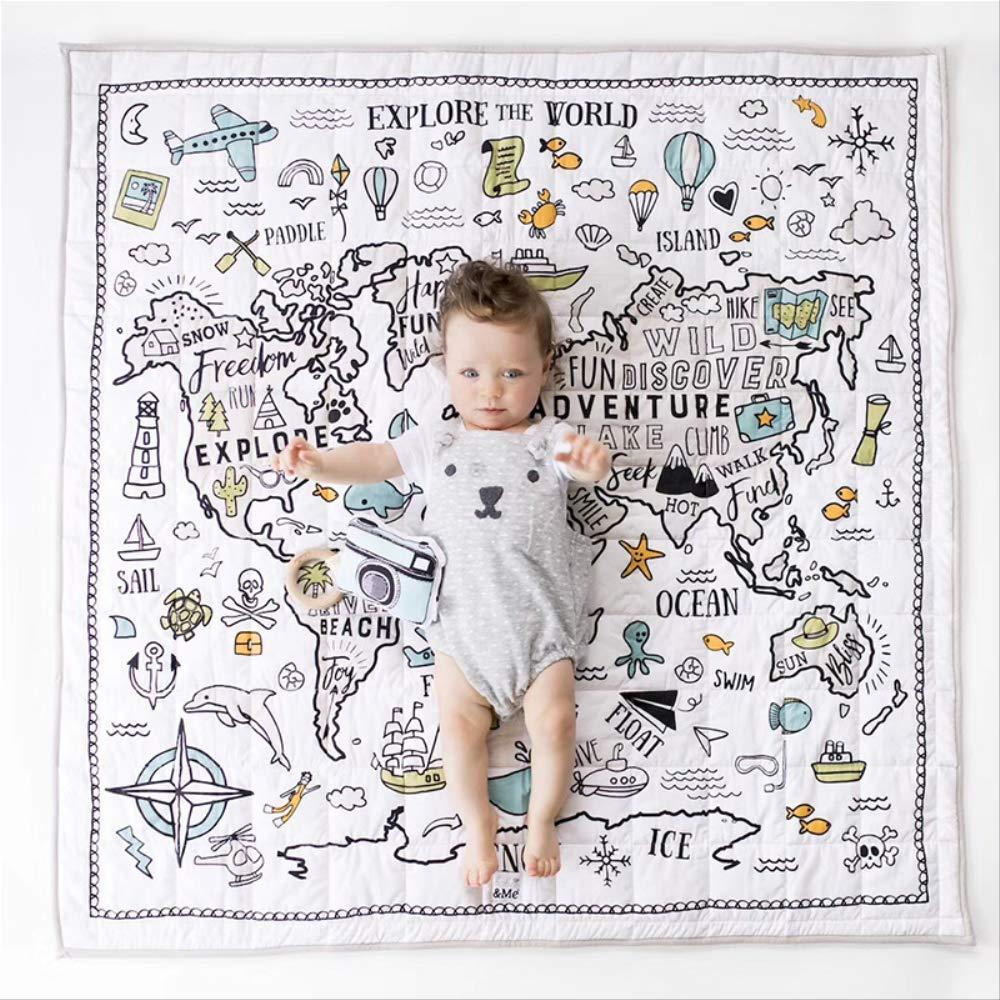 WDWX Baby Play Mat Toys Alfombra para ni/ños Alfombra en desarrollo Habitaci/ón para beb/é Almohadilla para gatear Estera plegable Alfombra a prueba de ca/ídas para beb/és Edred/ón de aire acondicionado