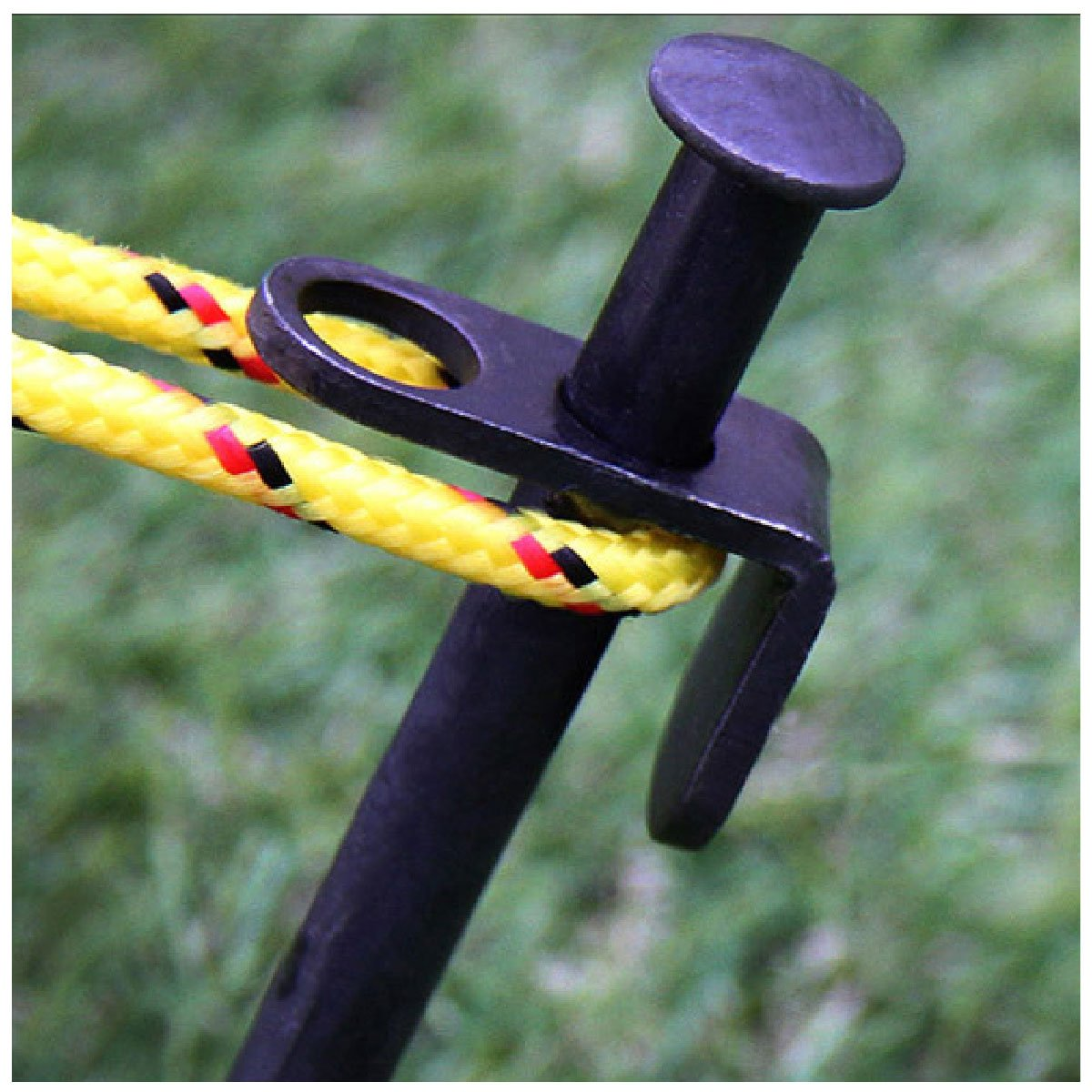 YAPJEB Steel Tent Solid Stakes Pegs Steel Camping Footprint Heavy Duty Tent Pegs with Fabric Pouch
