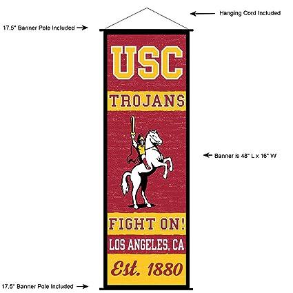 Amazon.com: USC Trojans Banner y cartel de desplazamiento ...