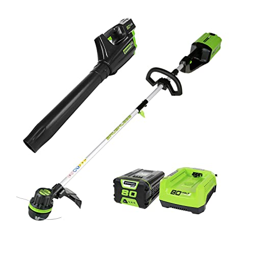 Greenworks PRO 80V Cordless Brushless String Trimmer Leaf Blower Combo