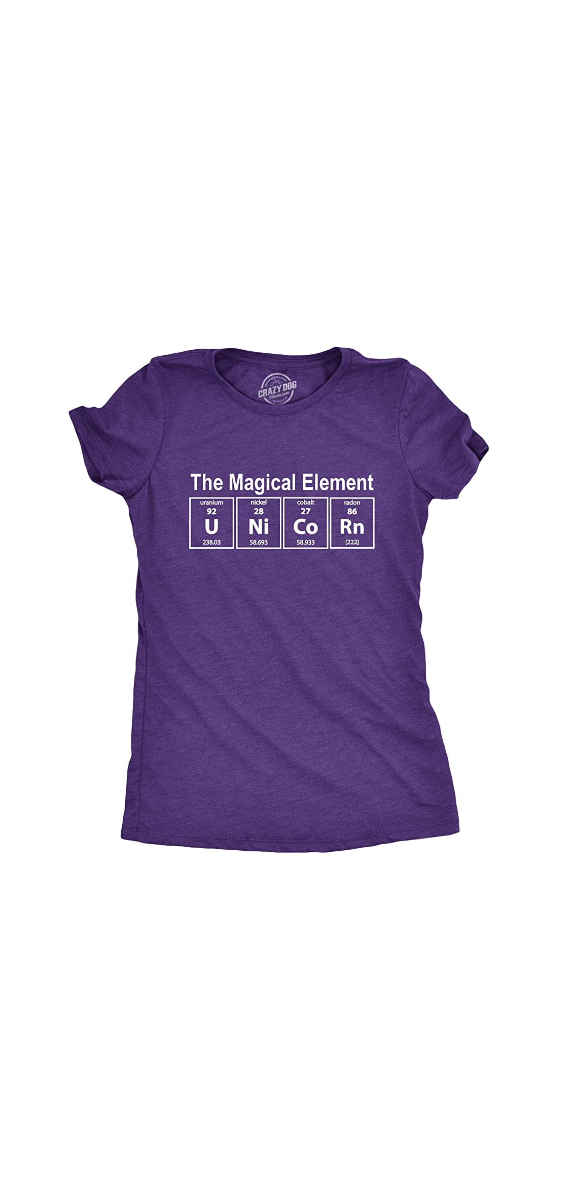 Womens Unicorn The Magical Element Tshirt Funny Science Tee