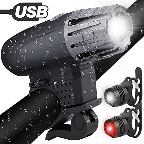 Solocil Luz de Bicicleta Recargable USB Set Potente Impermeable ...