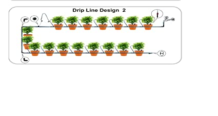 Green O2 Drip Line Design 2 Automated Drip Irrigation Kit For 10