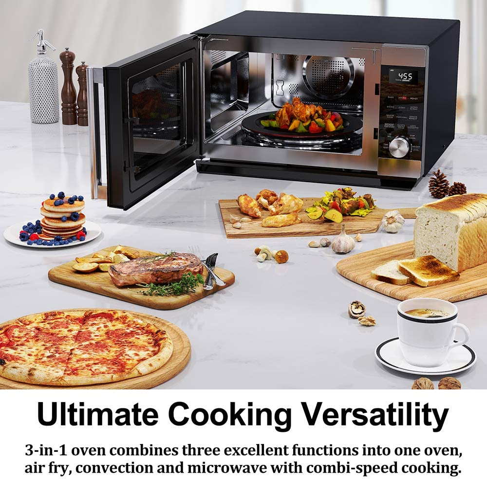 Microwave toaster convection oven combo