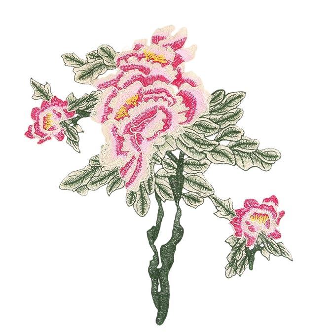 sourcingmap Diseño de flor del poliester del estilo de vendimia DIY ...