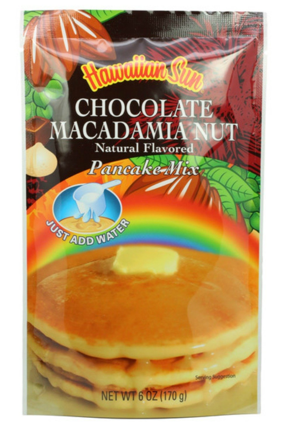 Hawaiian Sun 5 Pack Assorted Pancake Mix: Chocolate Mac, Passion Fruit, Banana Mac Nut, Coconut Pineapple. by Hawaiian Sun (Image #2)
