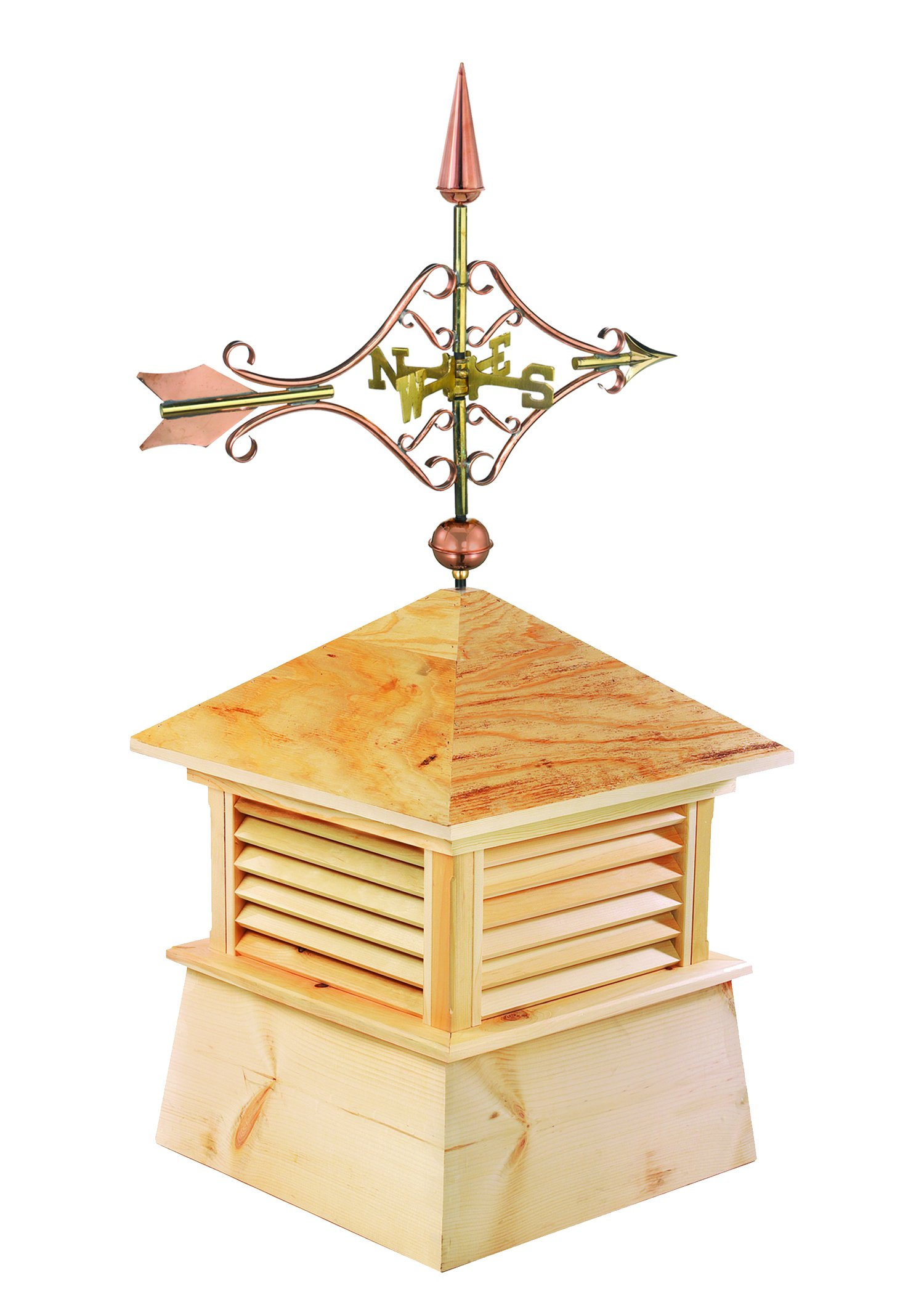 Good Directions 18'' Square Kent Wood Cupola with Cottage Victorian Arrow