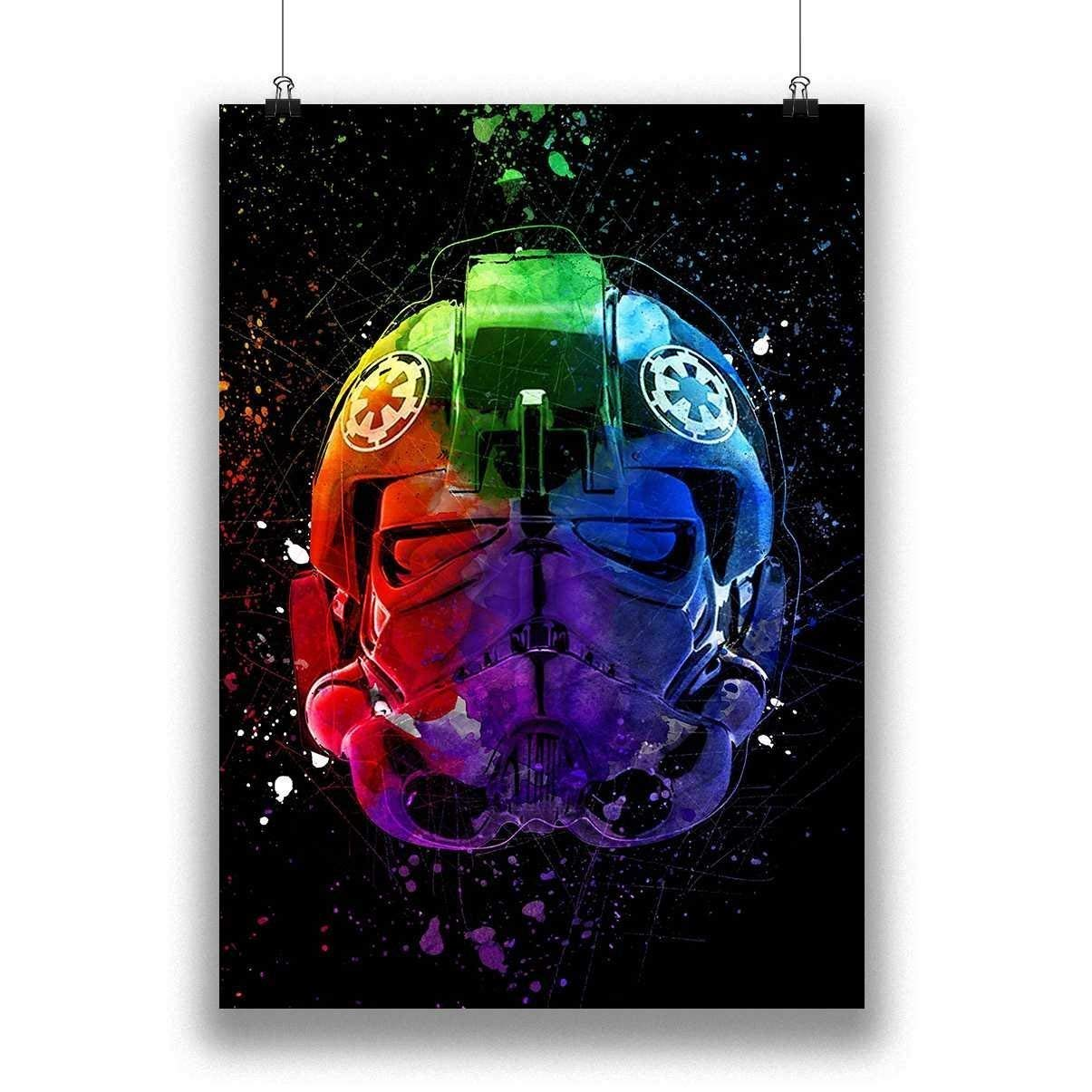 Star Wars Helmet Movie Poster Abstract TIE Fighter Painting Star Wars Poster Movie Giclee Wall Art Prints