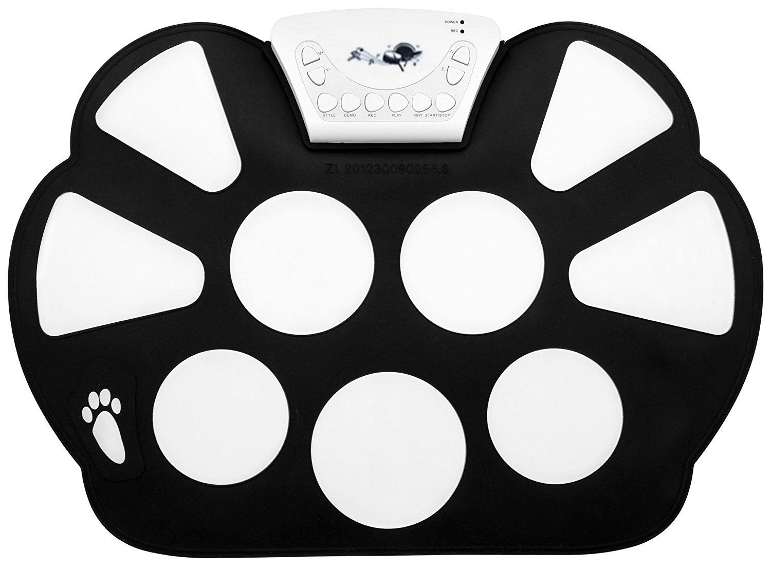 Top-Longer Portable Electronic Drum Pad Kit with Drum Sticks and Sustain Pedal for Children - Electronic Drums Pad Set Kids Gift for Christmas Day by Top-Longer