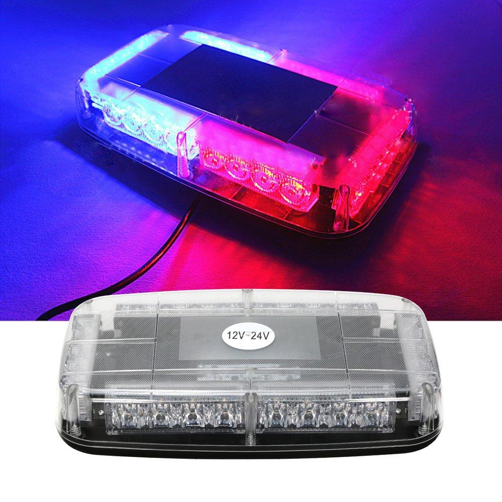 12v Auto Dach Led Blitzleuchten Bar Polizei Notfall Warnung Feuerwehrmann Flash Led Polizei Lichter rot und blau