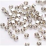Pawkyjar 1440pcs Crystal Glass Claw Rhinestones Sew on Rhinestone for Crafts Clothes Wedding Dress 5mm