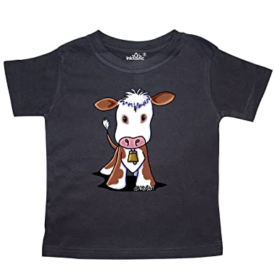 06b54212885 Amazon.com  inktastic - Little Brown Cow Toddler T-Shirt - KiniArt ...