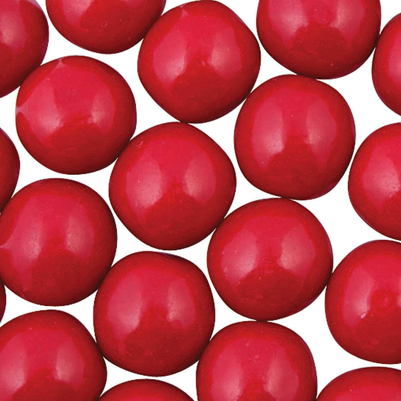 Fun Express - Red Gum Balls - Edibles - Gum - Bulk Gumballs- 97 Pieces