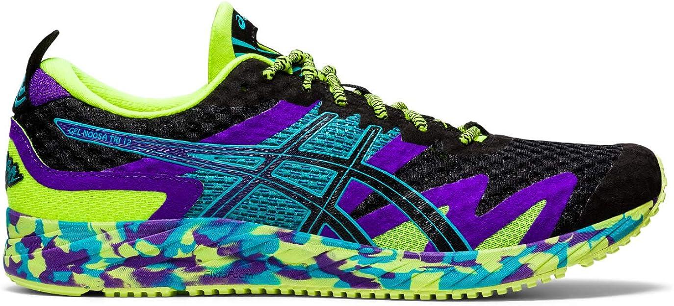 ASICS Gel-Noosa Tri 12 Road Running Shoe Herren Sneakers schwarz/lila/blau/grün bunt