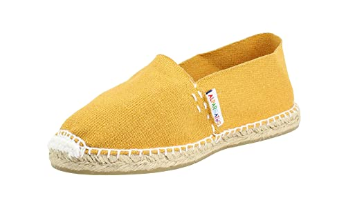 Alpargata Clasica Algodon Hilo Blanco Mostaza Hombre: Amazon.es: Zapatos y complementos