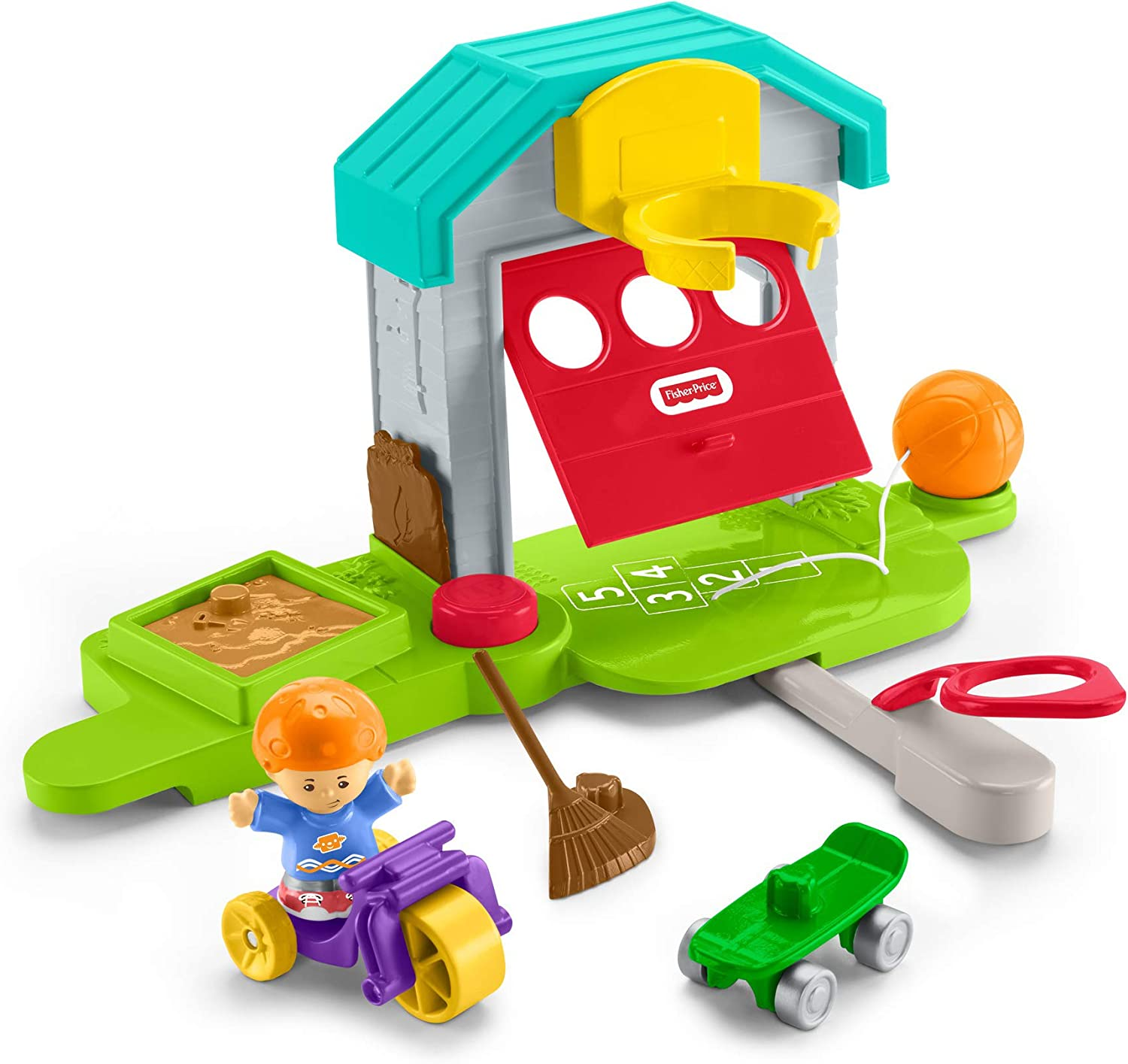 Amazon Com Fisher Price Little People Big Helpers Garage Multi Toys Games