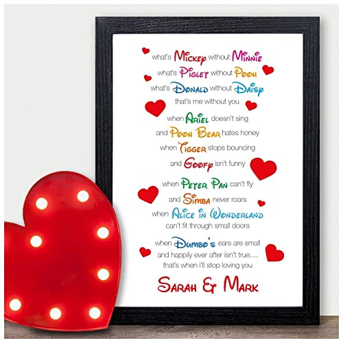 i love you disney couples personalised valentines day gifts for him