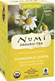 Numi Organic Tea Chamomile Lemon, Caffeine-Free Herbal Teasan, 18 Count non-GMO Tea Bags