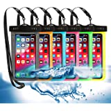 6 Pack Universal Waterproof Phone Pouch, Large Phone Waterproof Case Dry Bag IPX8 Outdoor Sports for Apple iPhone Pro XS XR X