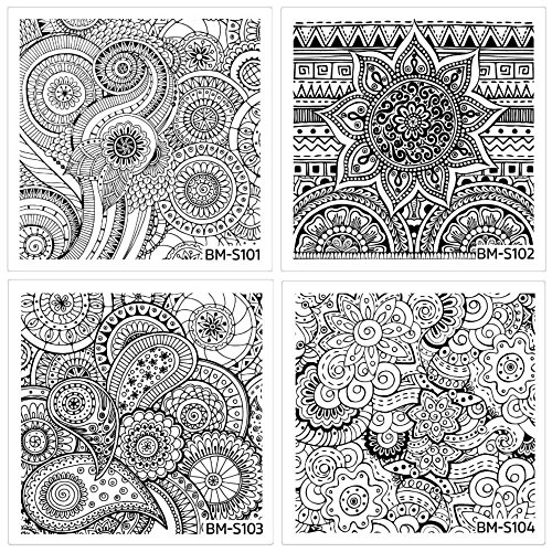 Maniology (formerly bundle monster) 10 pc Abstract Mandala Flowers Nail Art Stamping Plate Shangri-La