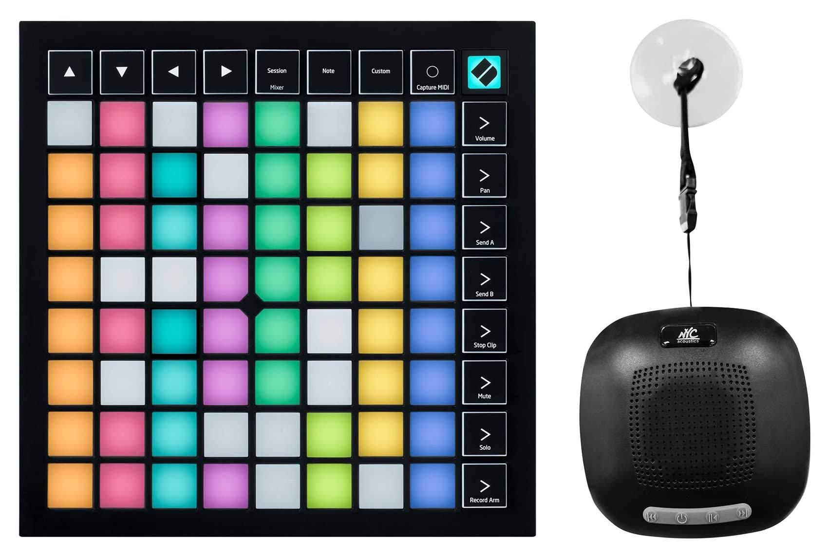 Novation Launchpad X MIDI USB Music Production Pad Controller+Waterproof Speaker by Novation