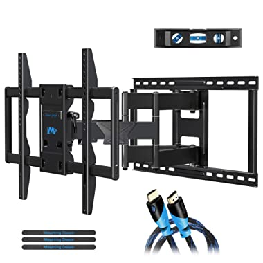 Mounting Dream Premium Full Motion TV Wall Mount Bracket Fits 16, 18, 24 inch Wood Stud Spacing, TV mount with Articulating Arm for 42-75 Inch LED, LCD, Plasma TV up to VESA 600x400mm, 132 lbs MD2298