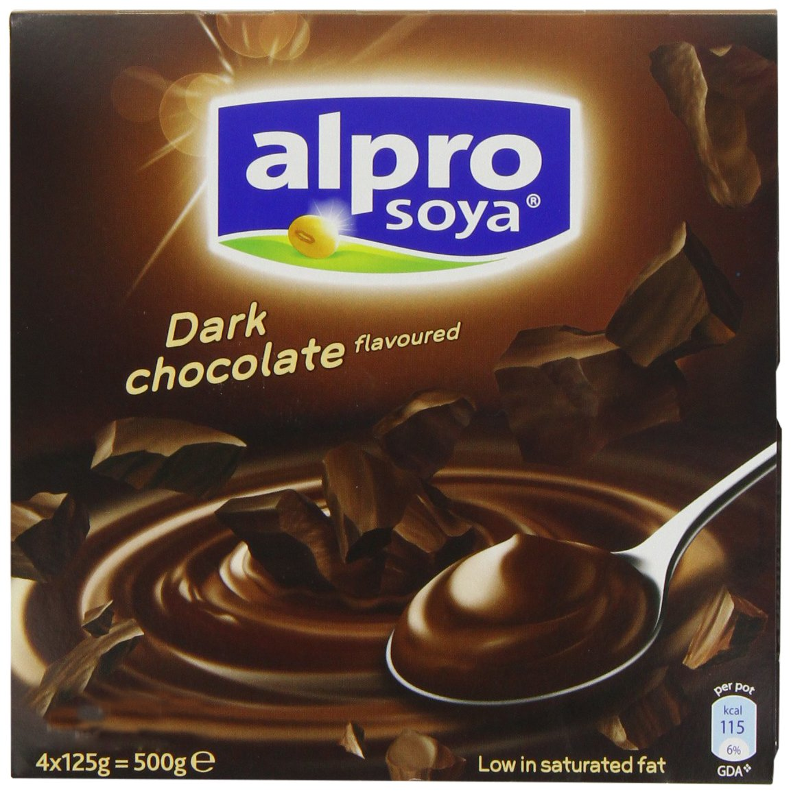 Alpro Dark Chocolate Dessert 4 x 125g (Case of 6): Amazon.es: Alimentación y bebidas