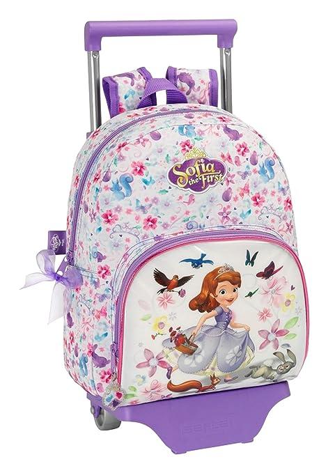 Safta - Carro - Mochila Infantil - Princesa Sofia - 34 Centímetros - Color Violeta
