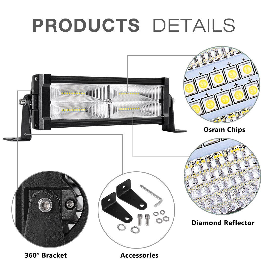 12 Led Light Bar Autosaver88 120w Diving Fog Wiring Harness On Connectors Motorcycle View Diagram Offroad Pods For Trucks Pickup Jeep Suv Atv Utv 2 Years Warranty Automotive