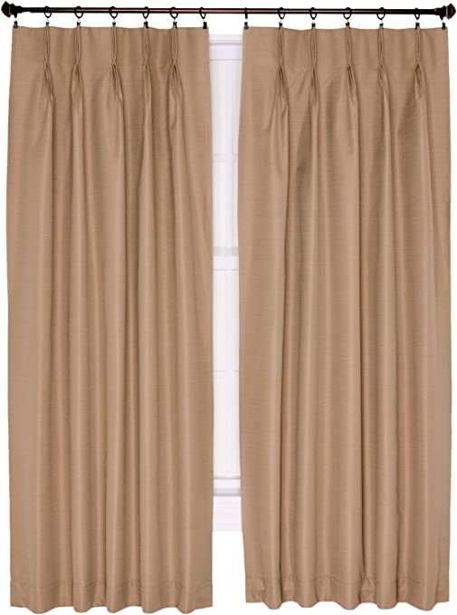 Linen Taupe NEW Crosby Thermal Insulated Pinch Pleat Curtain Drape Pair