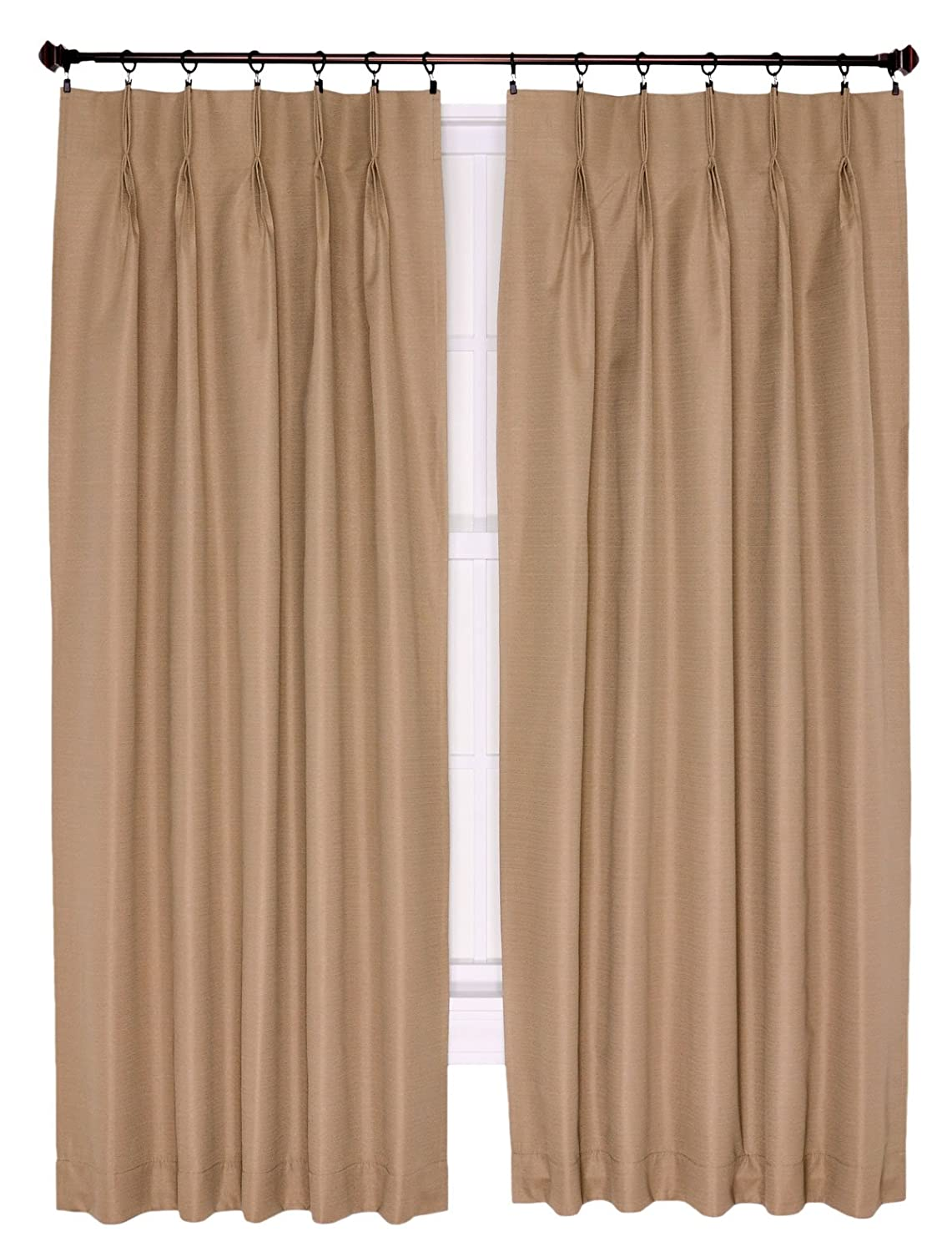 Amazon.com: Ellis Curtain Crosby Thermal Insulated 144 By 84 Inch Pinch  Pleated Foamback Curtains, Linen: Home U0026 Kitchen