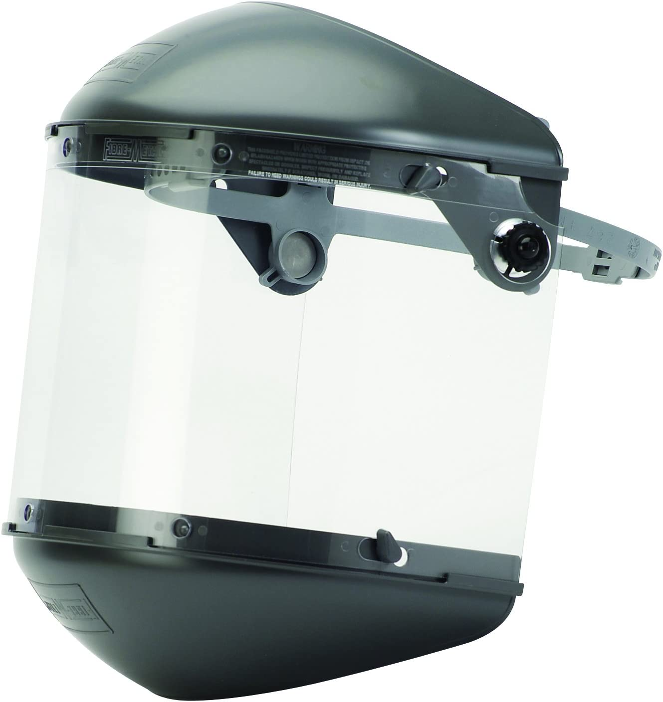 "Fibre-Metal by Honeywell FM5400DCCL Clear Visor Clear Chin Guard 4"" Crown Size Dual Crown High Performance Face Shield System"