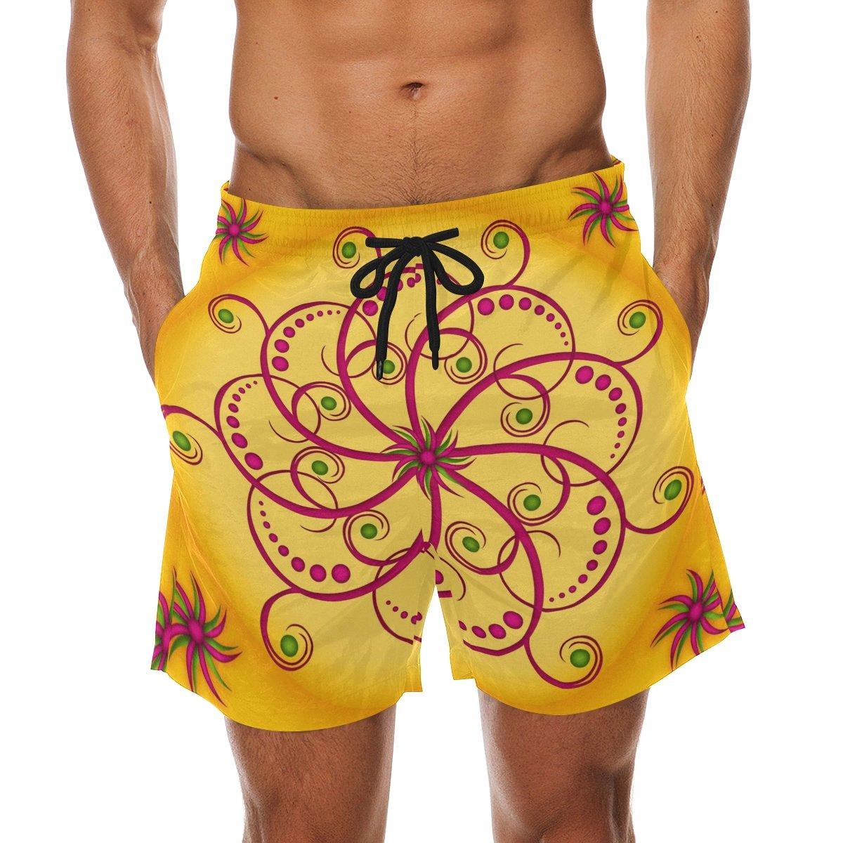 LORVIES Mens Mandala Beach Board Shorts Quick Dry Swim Trunk