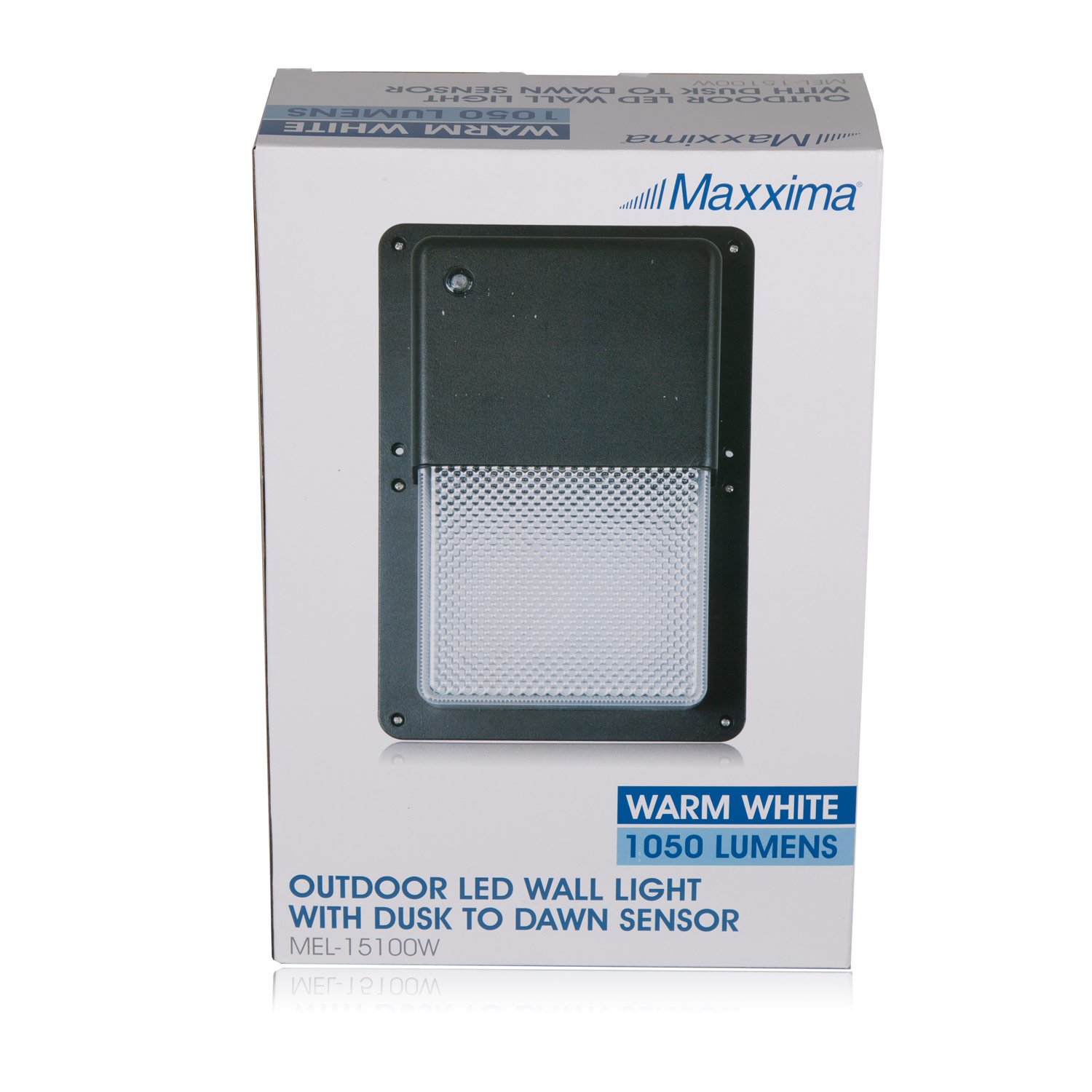 Maxxima Black Outdoor LED Wall Pack Light with Dusk to Dawn ...