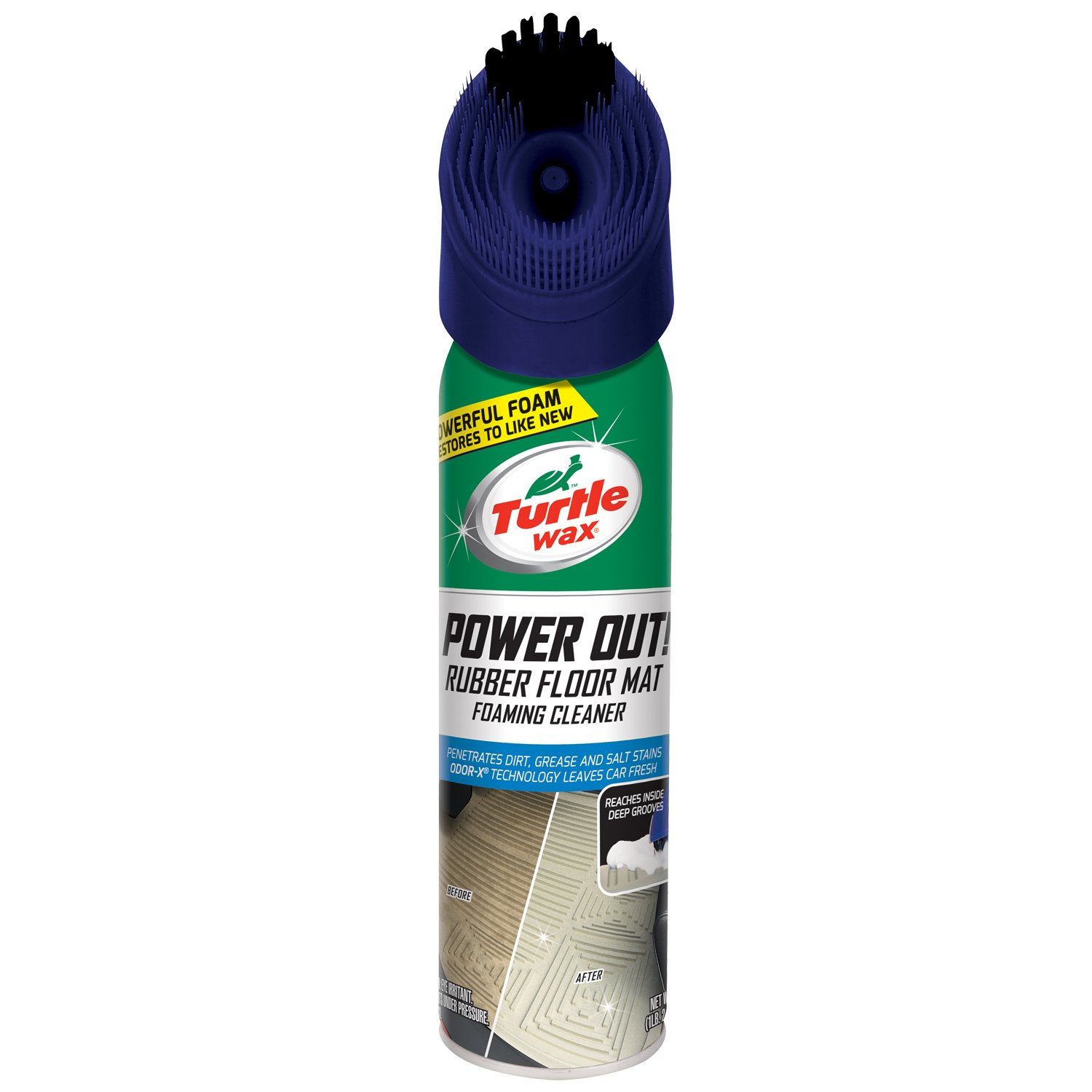 Turtle Wax 50600 Power Out Rubber Floor Mat Heavy Duty Cleaner - 18 oz.