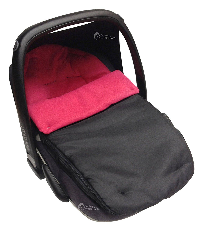 Autositz Fußsack/COSY TOES kompatibel mit Maxi Cosi Pebble dark pink For-Your-Little-One