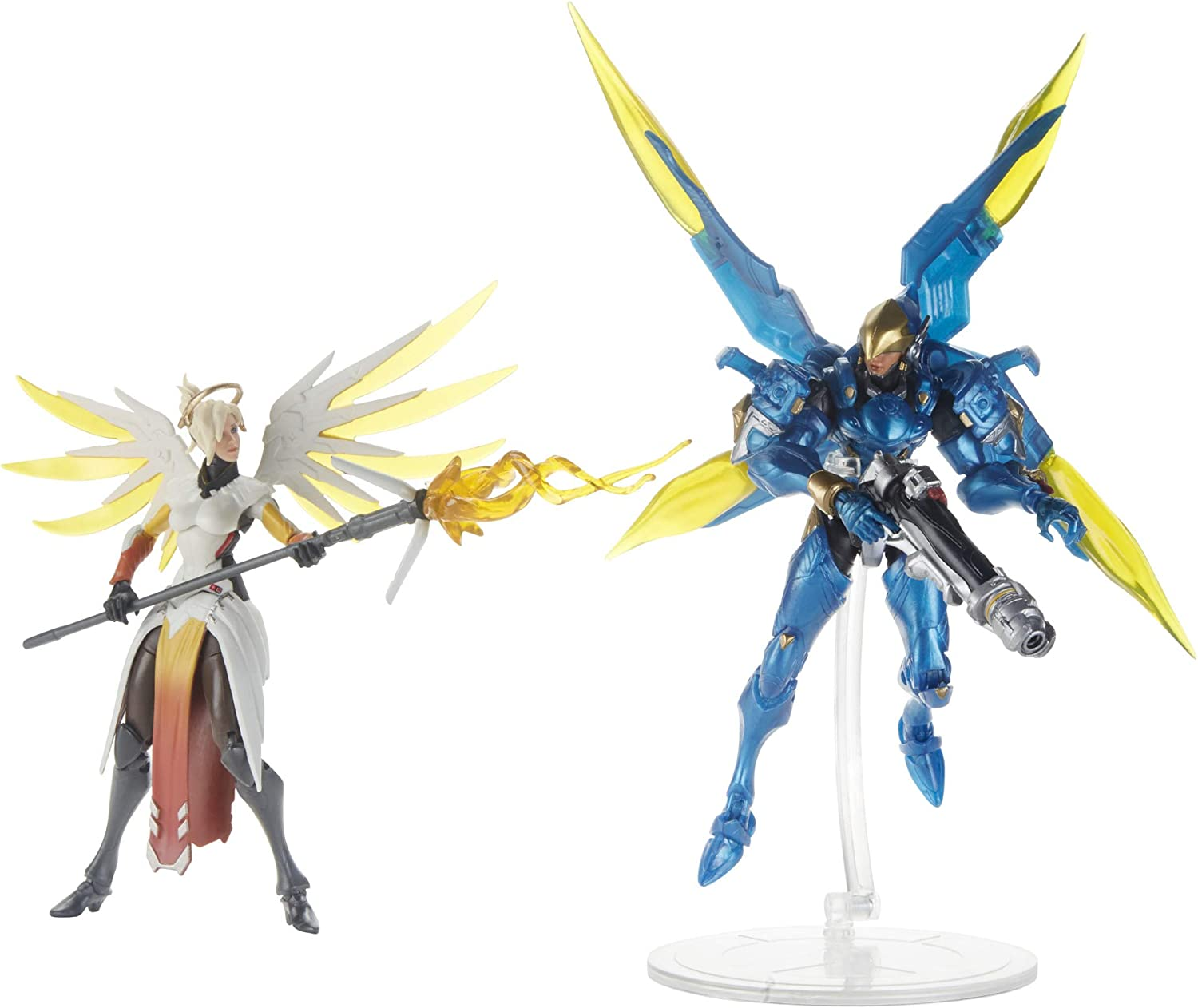 Overwatch Ultimates Series 6 inch Collectible Carbon Series Action Figure 4-Pack with Genji, Zarya, Pharah, and D. Va – Blizzard Video Game