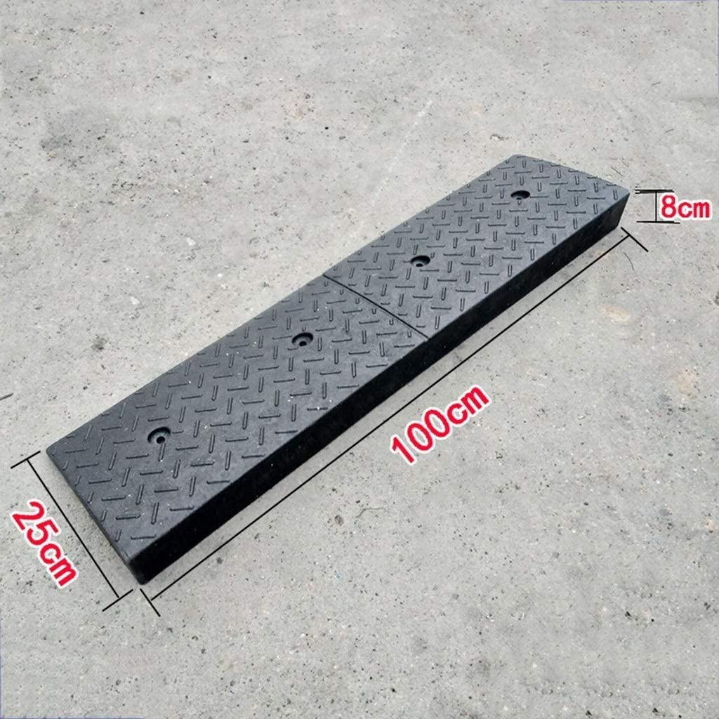 DJSMxpd Heavy Duty Rubber Kerb Curb Ramps Outdoor Channel Edge Slope Car Wheelchair Motorbike Parking Assistance Assist High 8cm