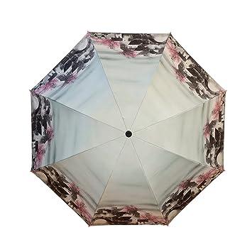 Sasan Creative óleo negro PARAGUAS paraguas sombrilla sunscreen cola fresca pequeña sombrilla macho y hembra regalo