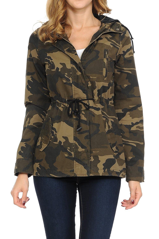 Women's Versatile Military Safari Utility Anorak Street Fashion Hoodie Jacket