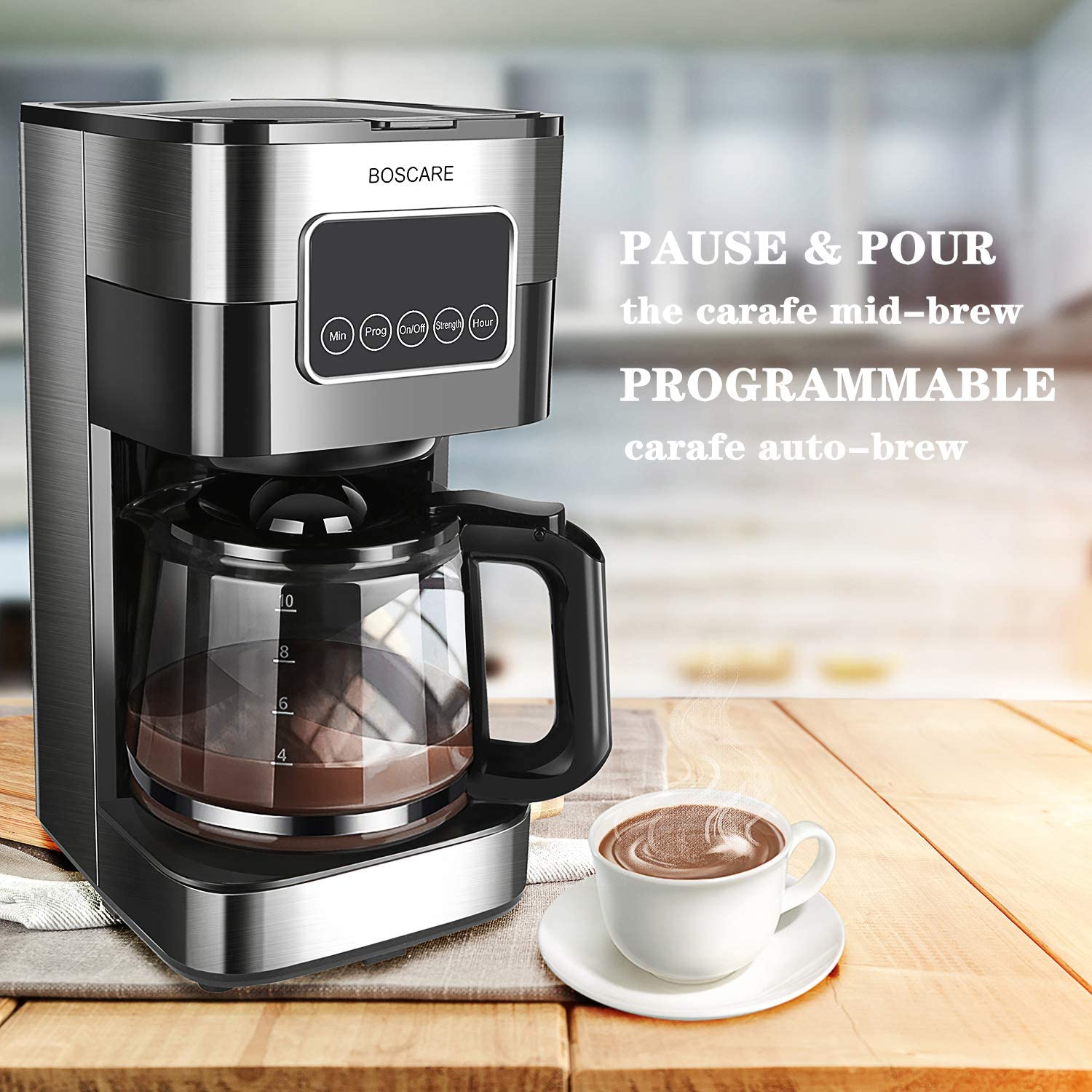 Coffee Machines Home & Kitchen BOSCARE 10 cup Programmable Coffee ...