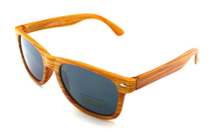Totalcovers Gafas de Sol Lagofree N009 Niño Infantil Madera UV 400 Sunglasses
