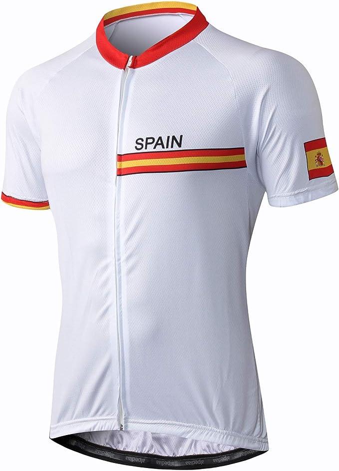 Alpediaa Maillot Ciclismo España,Hombres Maillots de Bicicleta ...
