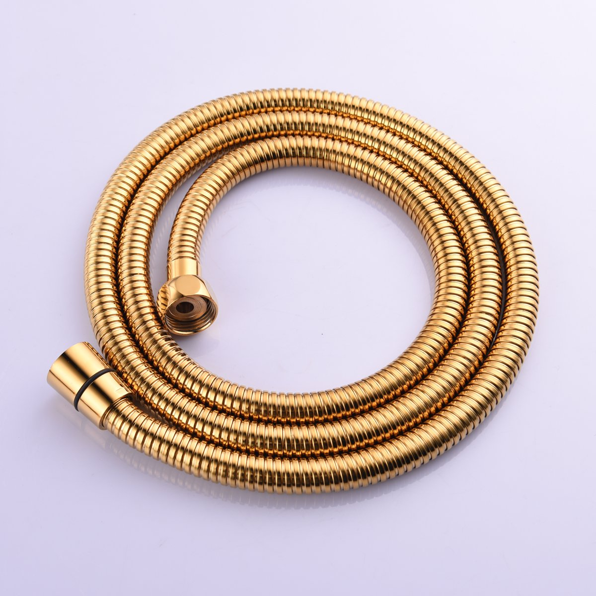 CIENCIA 2m(78-Inch)Anti-kink Flexible Gold Shower Hose Stainless Steel with Solid Brass Connector FHA019J